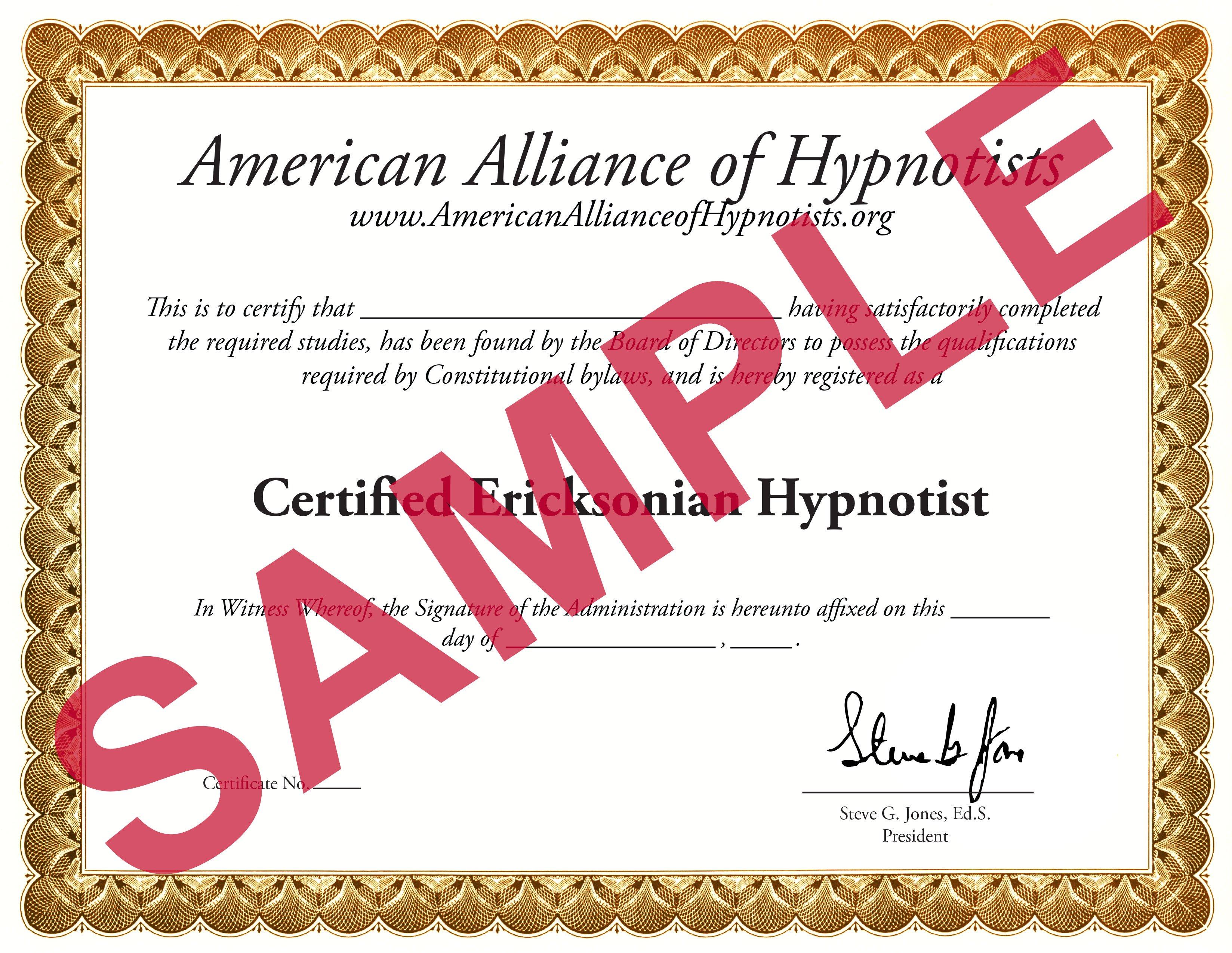 Ericksonian Hypnosis Certification Course